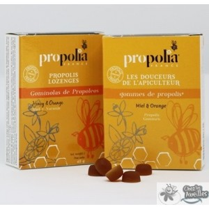 Gommes de Propolis, Miel et Orange